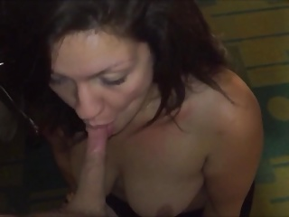 newbie brunette milf loves sucking cock