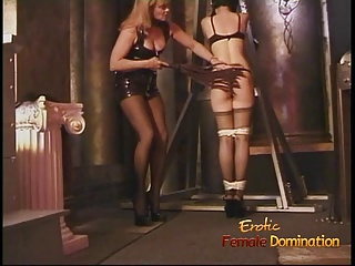 Kinky dominatrix has some dungeon enjoyable with a cute Asian slag