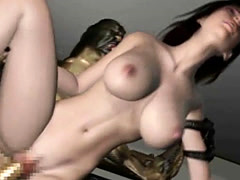 3D Helpless Babe Destroyed by an Alien!