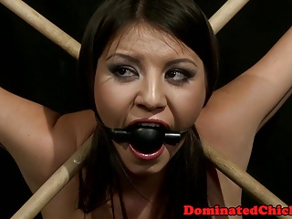 Tormented bitch tied up and punished