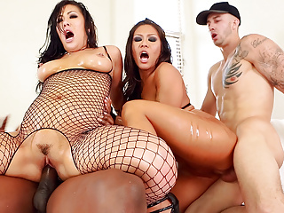 London Keyes and Mena interracial anal fuck