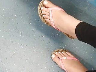 beautiful brunette teen toes