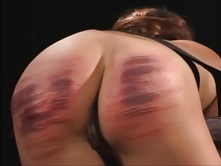 Cute lady sure and caned onerous to tears