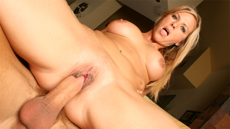 Mature blonde Kayla Synz using cock like mad