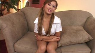 Pigtailed asian hooker Tia Tanaka teasing us together with her horny property