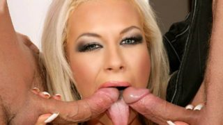 Scorching blonde will get her holes plugged