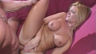 Busty blonde milf Religion Grant getting anally fucked by an enormous dick from behind